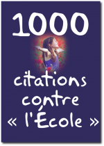 1000 citations contre « L'école » !
